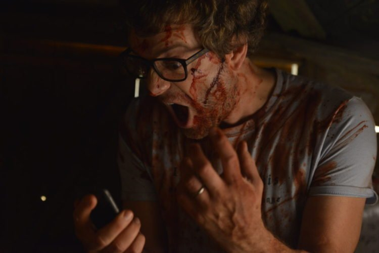Shed Of The Dead Spencer Brown as Trevor - Shed Phonecall Scene 2