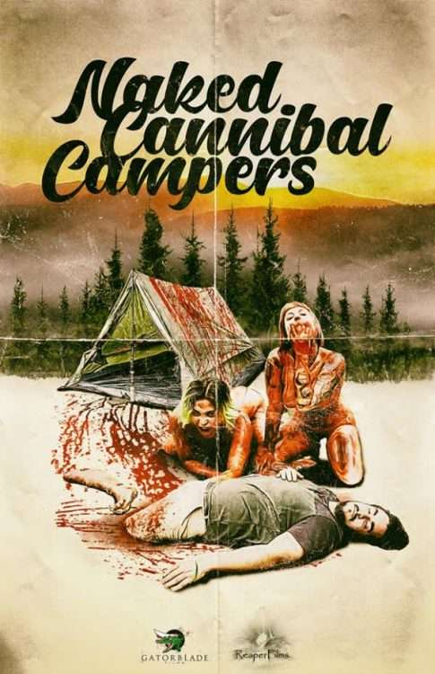 Naked Cannibal Campers Poster