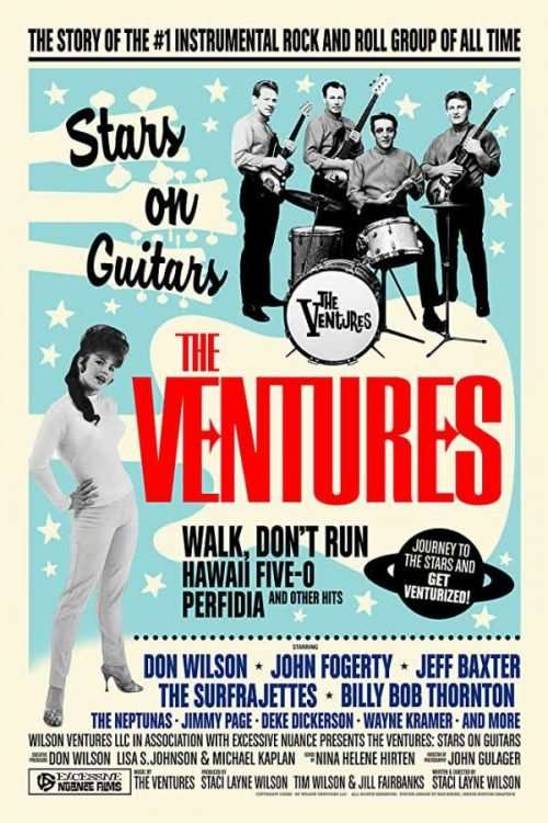 The Ventures Stars on Guitars Poster