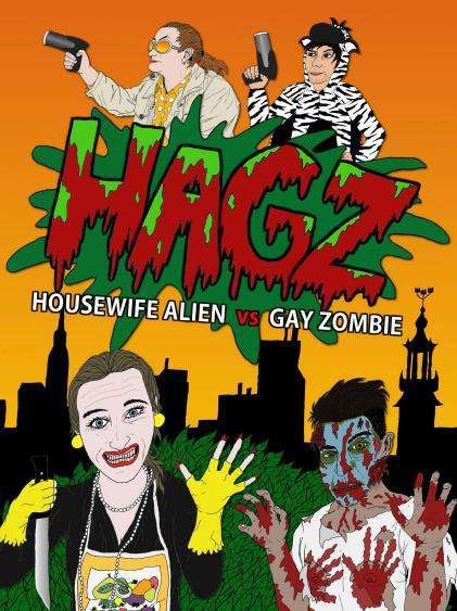Housewife Alien vs Gay Zombie Poster