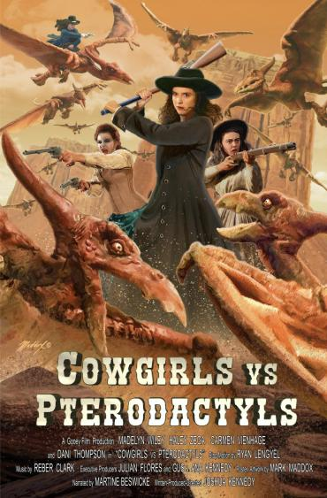 Cowgirls vs Pterodactyls Poster